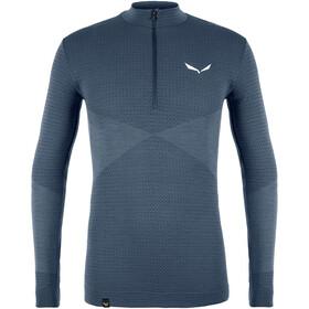 SALEWA Zebru Responsive Camiseta 1/2 Cremallera Hombre, azul